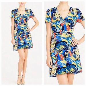 J. Crew Floral Tropical Print Sheath Dress